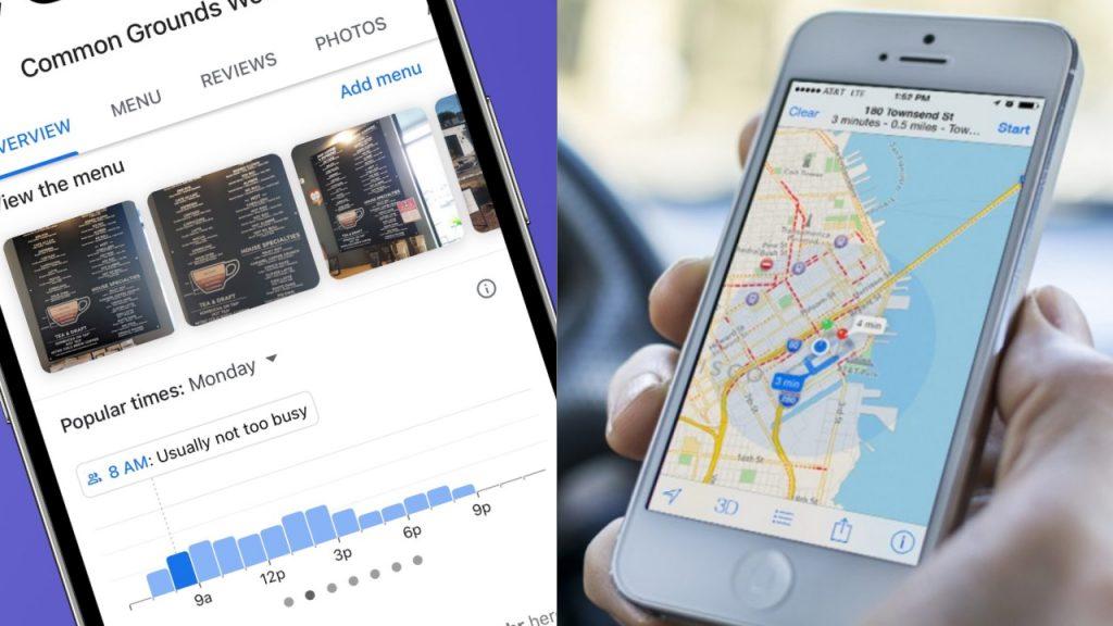 Apple Haritalar, meşguliyet durumunu gösterecek